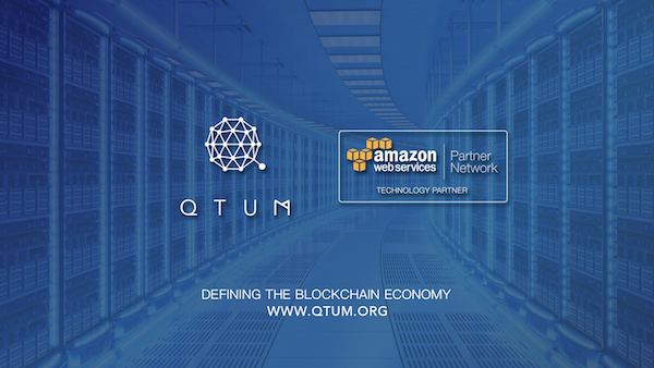 Amazon web service Chine conclut un partenariat avec Qtum